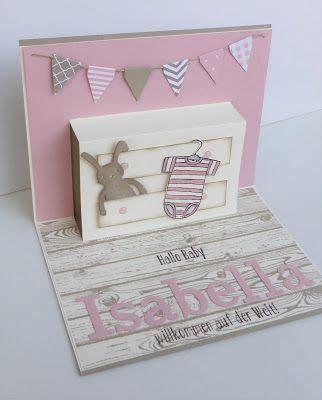 selbstgebastelte geschenke zur geburt baby karte card stin up pop up card floril 232 ge cards baby karten