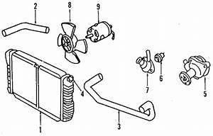 Mercury Tracer Engine Coolant Thermostat Housing