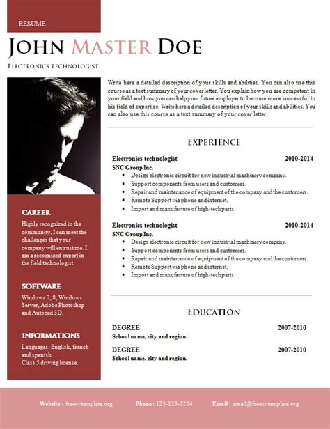 creative resume templates word creative design resume doc format 820 825 free cv