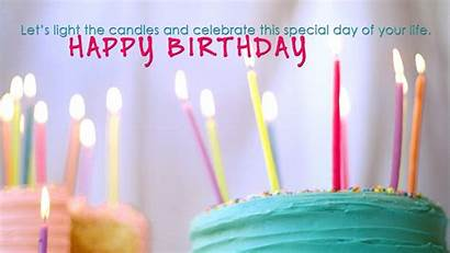 Birthday Happy Wishes Wallpapers Quote Candles Cake