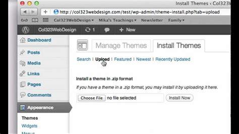 Wordpress Dashboard wordpress tutorial   install  wordpress theme 1280 x 720 · jpeg