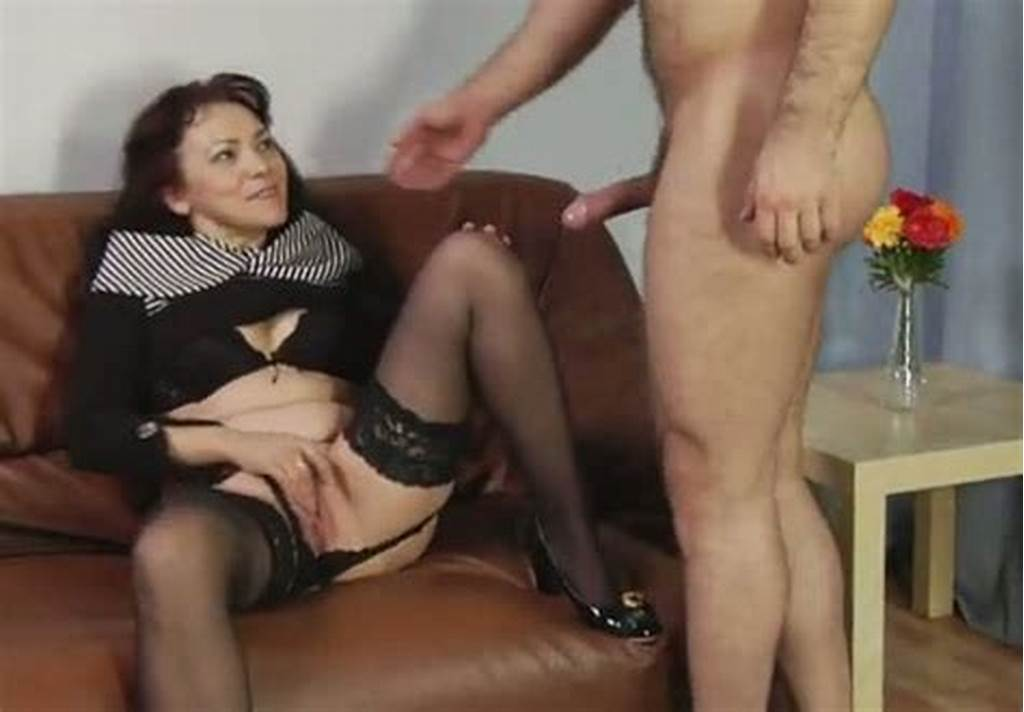 #Mature #Slut #In #Black #Nylon #Stockings #Gets #Her #Pussy #Licked