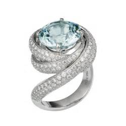 unique wedding rings for cartier de cartier white gold aquamarine and engagement ring engagement
