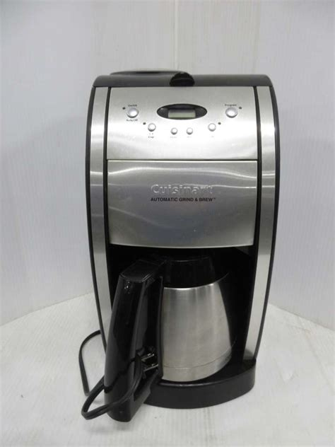 The dgb 700bc coffee machine by cuisinart gives you complete control over your brew. Albrecht Auctions   Cuisinart Coffee Maker with Grinder and Thermal Pot, Has Extra Grinder
