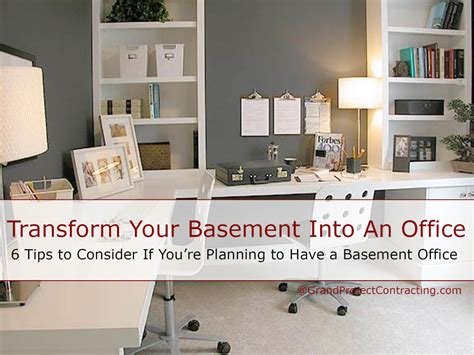 Transform Your Basement Into An Office Basement Renovation