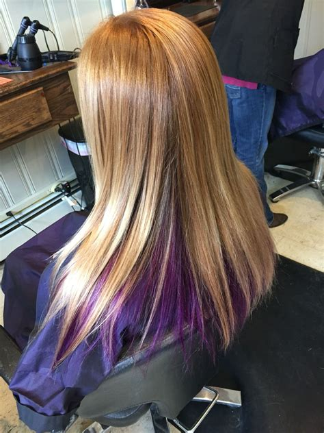 Blonde Hair With Purple Color Underneath Hair Ive