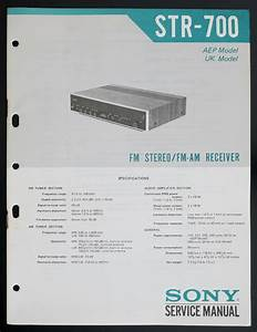 Sony Str Am Stereo Receiver Service Manual