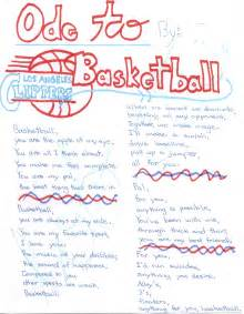 Examples of Ode Poems About Basketball