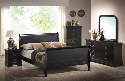 semi gloss sleigh  bedroom furniture set   cherry