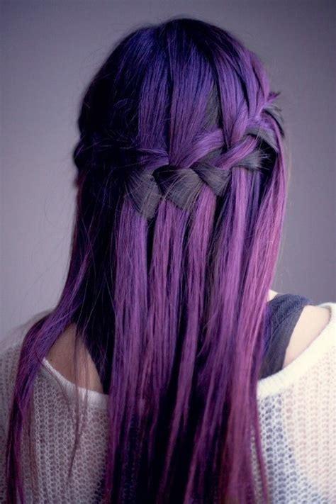 Pretty Hair Cool Hipster Purple Bows Purple Hair