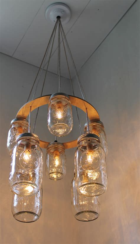 decker jar chandelier upcycled hanging