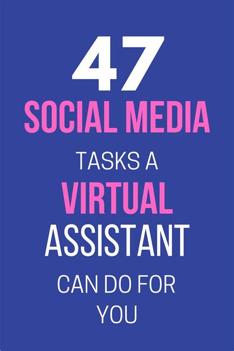 social media tasks  virtual assistants small revolution