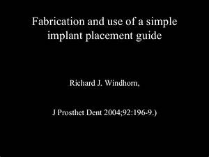 Surgical Guide For Dental Implant Placement Pdf