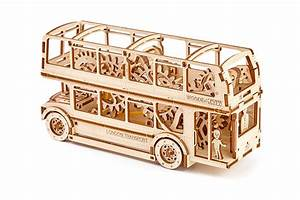 London Bus Puzzle Wooden Mechanical 3d Mobel By WoodenCity