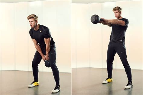 kettlebell swings power impact livestrong moves boost strength low