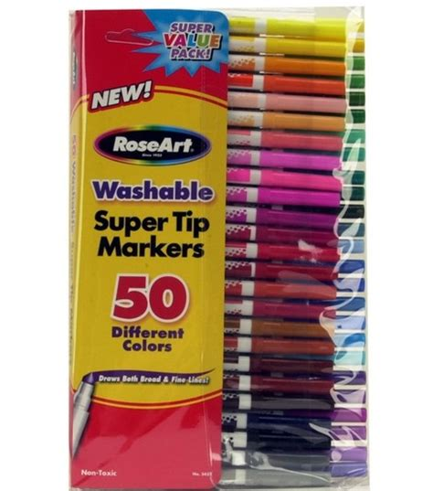 roseart washable super tip markers  ct  joanncom