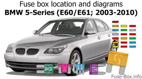 bmw  fuse box location wiring diagram