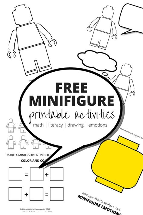 lego learning pages free printables for