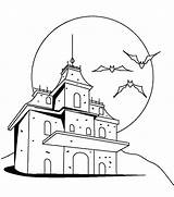 Haunted Coloring Castle Pages Mansion Dracula Drawing Drawn Clipart Draculas Drawings Printable Getcolorings Pencil Getdrawings Hauted sketch template