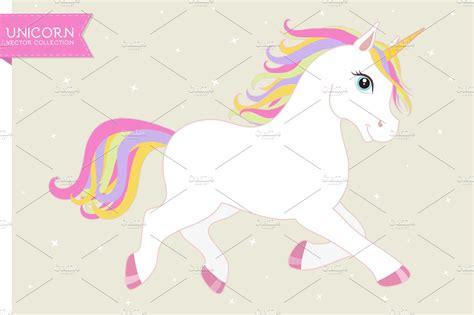 White Vector Unicorn Eps+ai+png