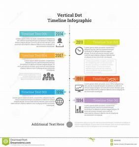 Vertical Dot Timeline Infographic Stock Vector Image