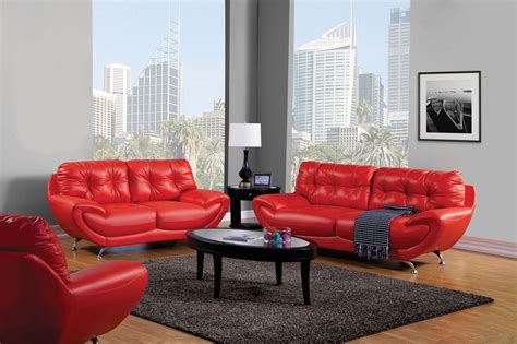 volos modern red living room set  rounded edges sm