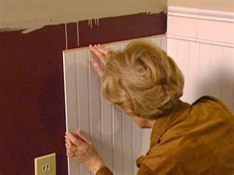 wainscoting installation  tos diy