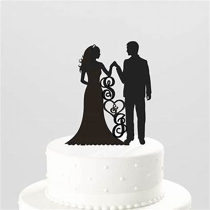 Cake Silhouette Topper Party Topo Engagement Decor