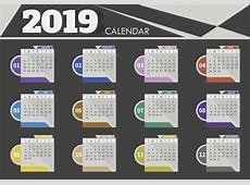 Calendarios en vector 2019 para descargar gratis Illustrator