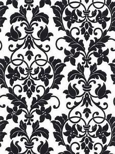 Black And White Damask Desktop Wallpaper ...