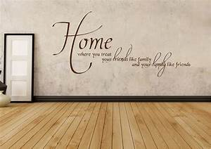 Home family friends text quotes wall stickers adhesive