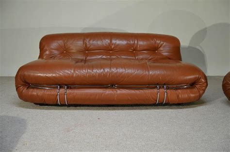 leather sofa and ottoman set afra and tobia scarpa distressed leather soriana sofa