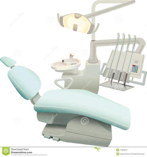 siege dentiste le matériel de chirurgie dentaire illustration de vecteur