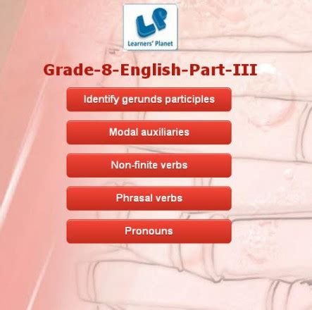 english grammar quizzes  class  cbse
