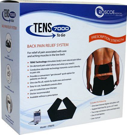 TENS 7000 To Go Back Pain Relief System | TENSPros