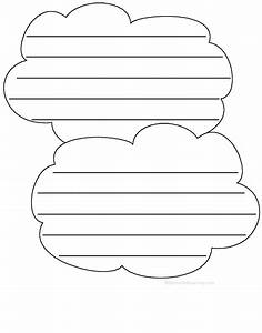 shape poems enchantedlearningcom With cloud template with lines