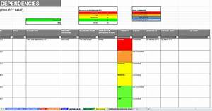 excel raid log dashboard template track report risk With project raid log template
