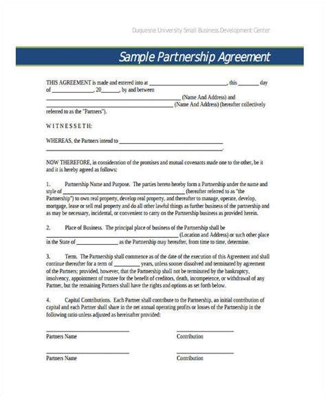 general business partnership agreement
