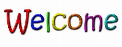 Welcome Text Transparent Multicolour Background Sign Website