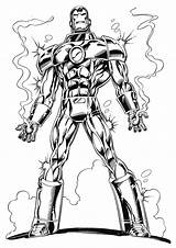 Iron Coloring Man Pages Printable Cool sketch template