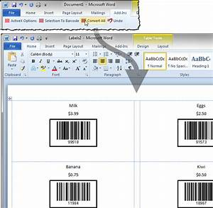 can microsoft access print barcodes in word erogontalent With how to create barcodes in word