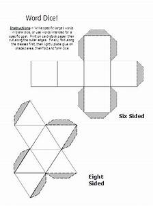 Cube Template Word Document Multiple Meaning Words Activities Worksheets Word