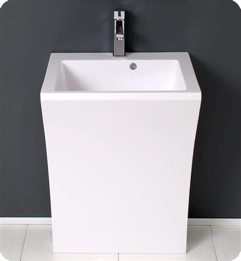modern pedestal sink 22 quadro white pedestal sink modern bathroom vanity
