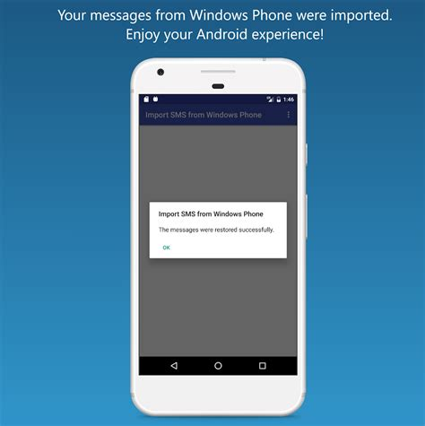 import sms from windows phone android apps play