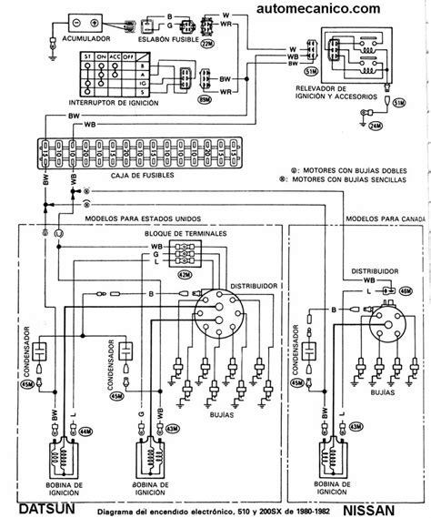 diagramas encendido electronico nissan