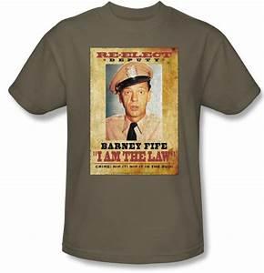 Fife Chart Andy Griffith Show Shirt Barney Fife I Am The Law Safari