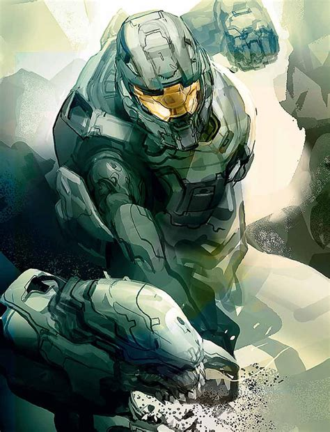 Master Chief Concept Art Halo 4 Art Gallery