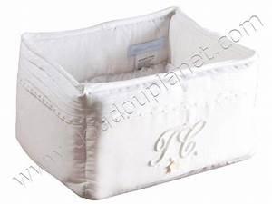 Panier De Toilette Bébé : tartine et chocolat panier de toilette monogramme blanc ~ Teatrodelosmanantiales.com Idées de Décoration