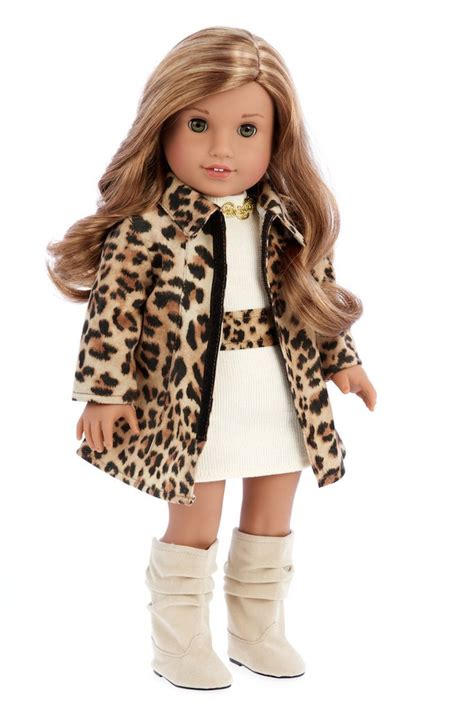 cheetah boots fashion clothes for 18 inch american doll