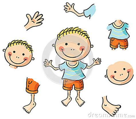 cartoon body parts stock vector image